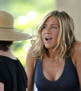 Jennifer Aniston upskirts and cleavage